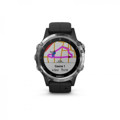 GPS Garmin Fenix 5 plus plata y negro 47MM