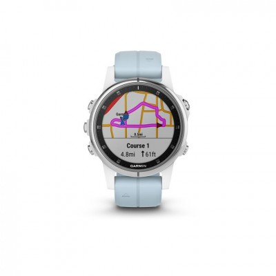 GPS Garmin Fenix 5S plus blanco y azul 42MM