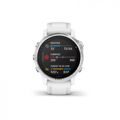 GPS Garmin Fenix 6S en plata y blanco 42MM